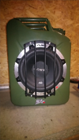 "VIBE SLR 10"" SUBWOOFER IN A JERRY CAN 1050 WATTS"