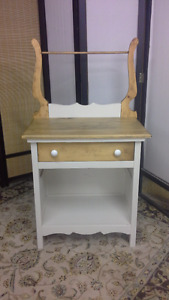 2 Pine Washstands/ Microwave Hutch