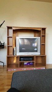 Tv and TV stand.