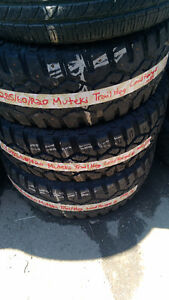 2 Used 285-60-20 Muteki Trail Hog (LR-E) (10 Ply)
