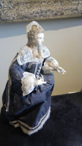 Three beautiful large hand-made french dolls