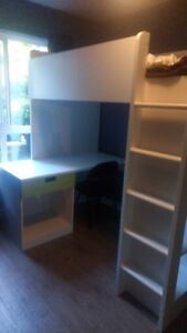 Ikea Loft Bed 1 drawer/2 doors