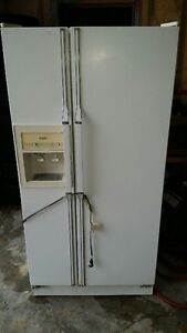 fridge with water and ice maker