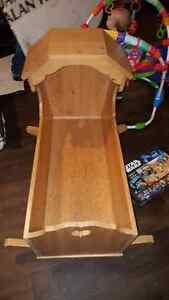 Solid wood baby rocker