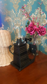 OFFERS WELCOME Upcycled Antique Camera Lens into Table Lamp