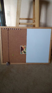 Combination white and cork dry erase board