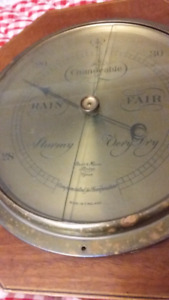 ANTIQUE SHORT AND MASON BAROMETER