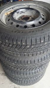 Polar Trax studded winter tires-almost new