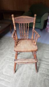 Chair - High chair - infant's antique high chair