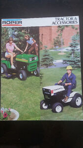 Lawn Tractor 1980's Roper manual and literature