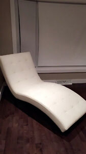 White Leather Sofa / Chair
