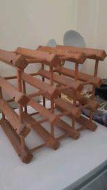 9-bottle wine rack, solid hard wood