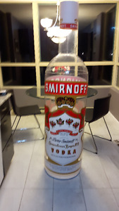 Rare 6 foot tall man cave Smirnoff Vodka Inflatable Bottle