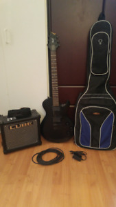 CORT Korean Electric Guitar - with Roland CUBE Amp & more..