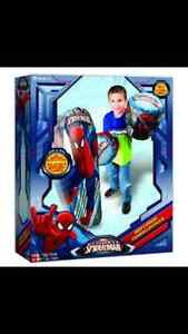 Spiderman punching bag and gloves