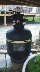 Above ground pool pump and filter 2 years old