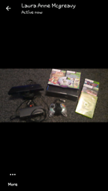 Xbox 360 with Kinect 7 games in good condition comes with all the wire