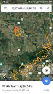 6.5 acres 10 mins north of edmonton