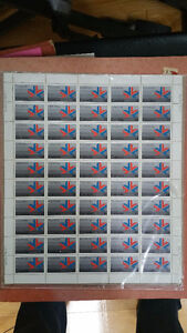 1978 XI CANADIAN COMMONWEALTH 14CENT STAMPS 50 MINT SHEET SEALED