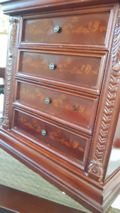 Jewelry Solid Mahogany Box. Beautiful