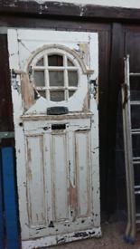 Original 1930s front door for refurb up cycling restoration