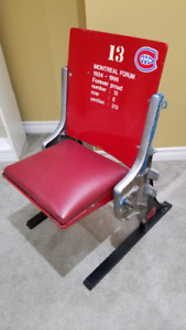 Montreal Forum Seat - Red w/stand.