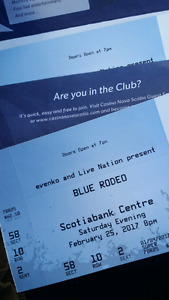 TONIGHT'S TICKETS FOR BLUE RODEO