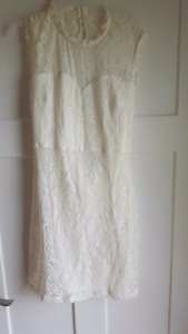 New without tags ivory lace reception dress