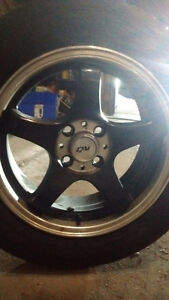 "Dai Alloys- "" Candy"" series Black and Chrome Rims"