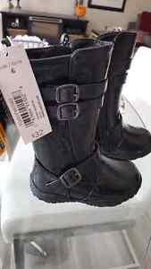 Toddler size 6 brand new boots with rubber soles