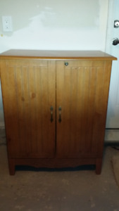 Wooden cabinet, good for storage