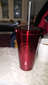 STARBUCKS METAL CUP FOR SALE! MINT CONDITION!