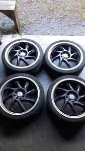 set de pneu. set de mag 17 pouce