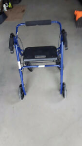 Blue Walker with Wheels and Seat