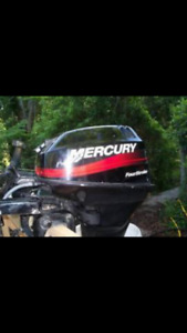 2002 Mercury 9.9 4 stroke kicker comes with  controls and wires