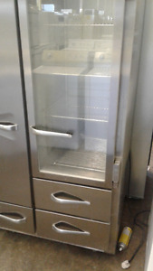 "Stainless Steel 32"" Traulsen Rare Double Door Fridge & Freezer"