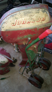 2 old johnson outboard motors