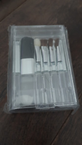 Brand New Mini Makeup Brush Set and Case (in packaging)
