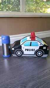 Thermos Police Car Lunchbag + S/S  Thermos Drink Bottle