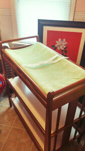 Beautiful baby change table with pad and pad cover