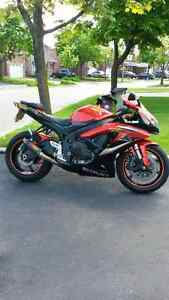 2009 Suzuki GSXR 600 Black/Orange