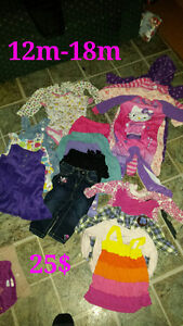 Baby girl clothes from 9m-18m