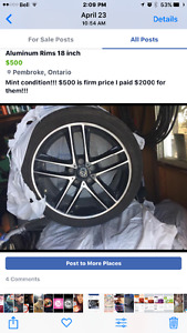 18 inch Rims for sale mint condition!!