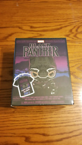 Funko Pop Marvel Target Excl Black Panther Glow Purple Tshirt