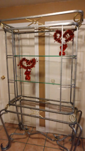 Glass Shelf with 4 Tiers, matching Set!