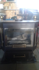 Gas fireplace with piping and top cap