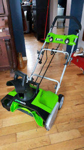Greenworks electric snow thrower