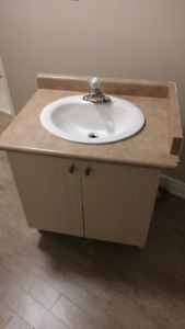 Used vanity (sink and faucet included)