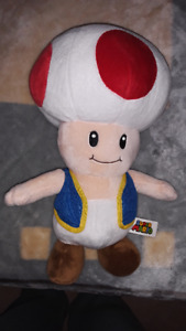 toad from mario plush like brand new