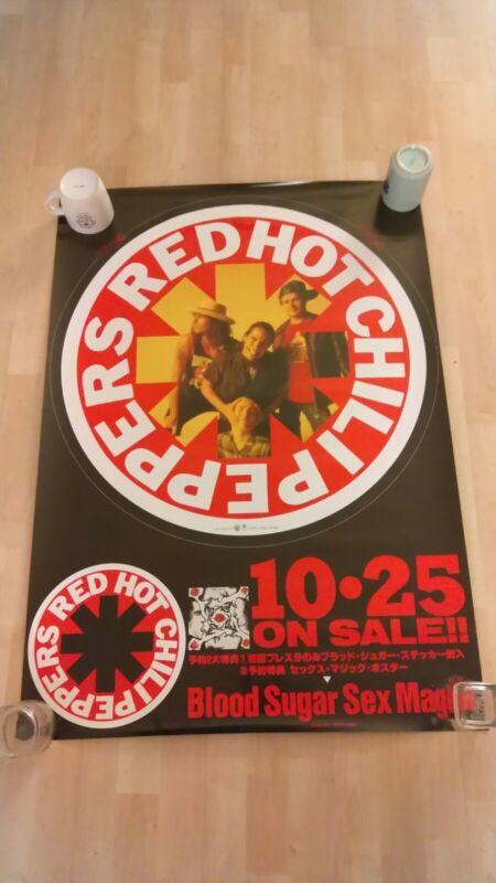 Red Hot Chili Peppers- Blood Sugar Sex Magic 1991 Japan Huge Poster  RARE!!!